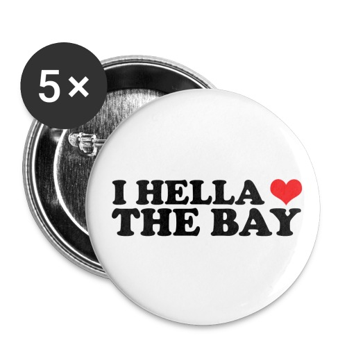 I Hella Heart the Bay Small Buttons - Small Buttons