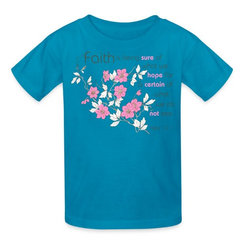 Faith (pink & brown) - Kids' T-Shirt