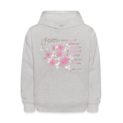 Faith (pink & brown) - Kids' Hoodie