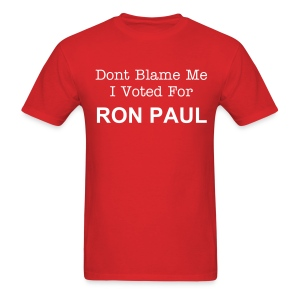 I Voted For Ron Paul - Men's T-Shirt