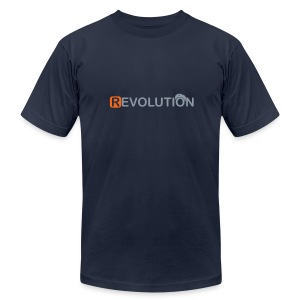 * REVOLUTION * (metallic.silver)  - Men's T-Shirt by American Apparel