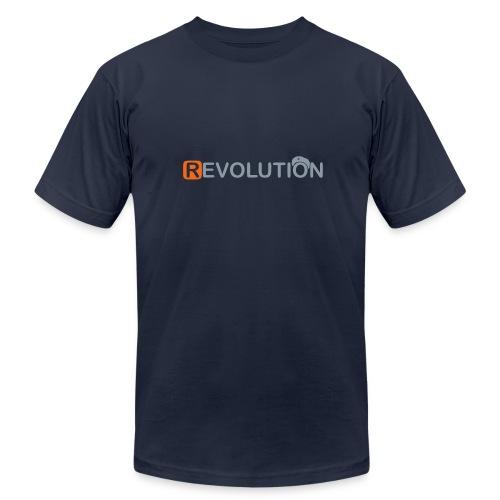 * REVOLUTION * (metallic.silver)  - Men's Fine Jersey T-Shirt