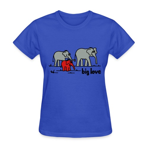 Big Love elephants family - Women's T-Shirt