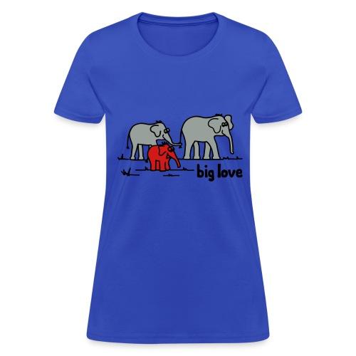 Big Love elephants family - Women's T-Shirt