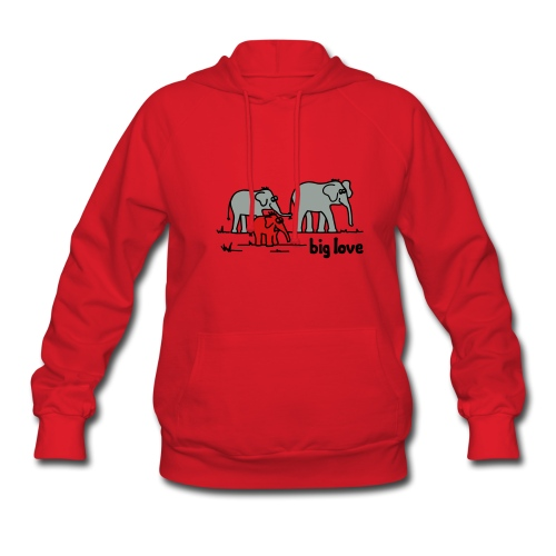 Big Love elephants family - Women's Hoodie