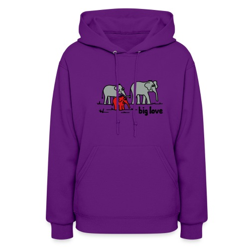 Big Love elephants family - Women's Hoodie