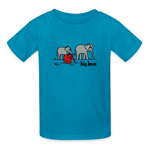 Big Love elephants family - Kids' T-Shirt