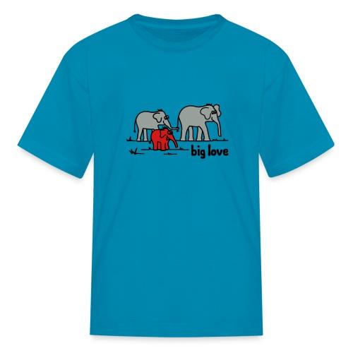 Big Love elephants family - Kids' T-Shirt