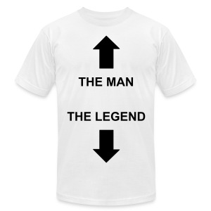 man/legend t-shirt white/black - Men's Fine Jersey T-Shirt