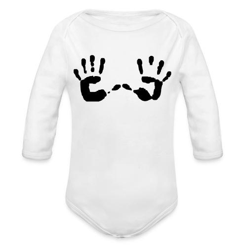 dj shirt - Organic Long Sleeve Baby Bodysuit