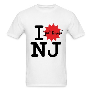 I just friends NJ (Guy's White) - Men's T-Shirt