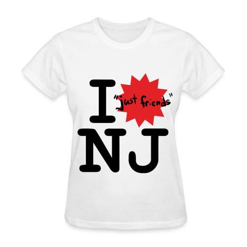 I just friends NJ (Girl's White) - Women's T-Shirt