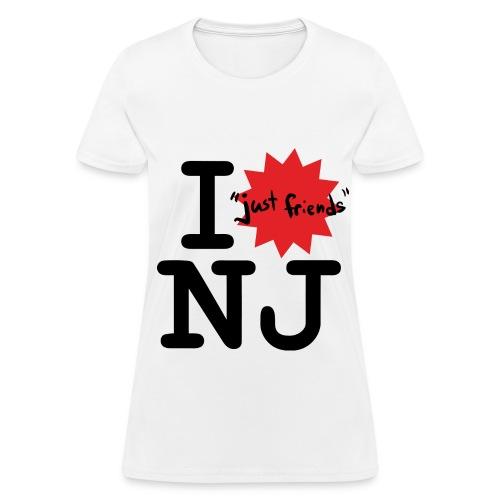 I just friends NJ (Girl's White) - Women's T-Shirt