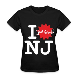 I just friends NJ (Girl's Black) - Women's T-Shirt