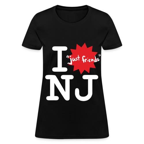 I just friends NJ (Girl's Black) - Women's T-Shirt