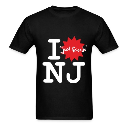 I just friends NJ (Guy's Black) - Men's T-Shirt