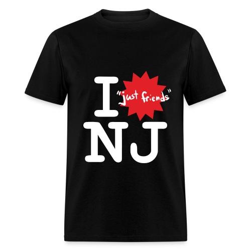 I just friends NJ (Guy's Black) - Men's T-Shirt