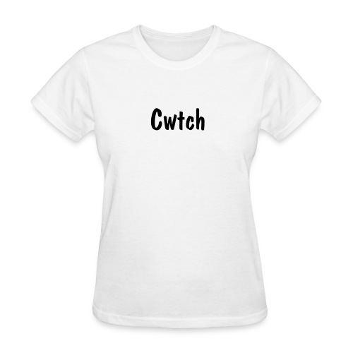 Cwtch - Black Text - Women's T-Shirt