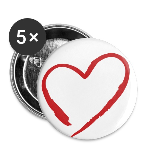heart buttom - Large Buttons