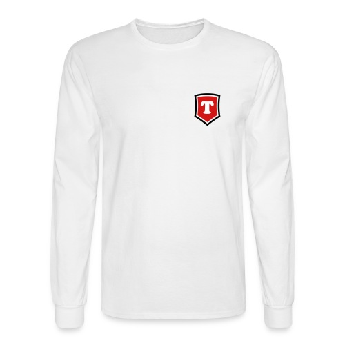 Small Crest T - White LS - Men's Long Sleeve T-Shirt