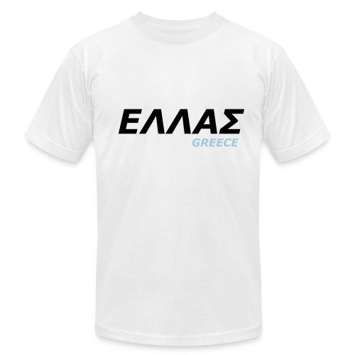 GREECE - Men's Slim Fit T-Shirt with BACK PRINT! - Men's  Jersey T-Shirt