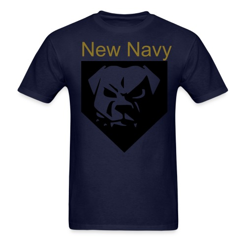 new navy dog - Men's T-Shirt