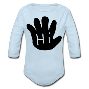 Hi/Bye long sleeve onsie - Long Sleeve Baby Bodysuit