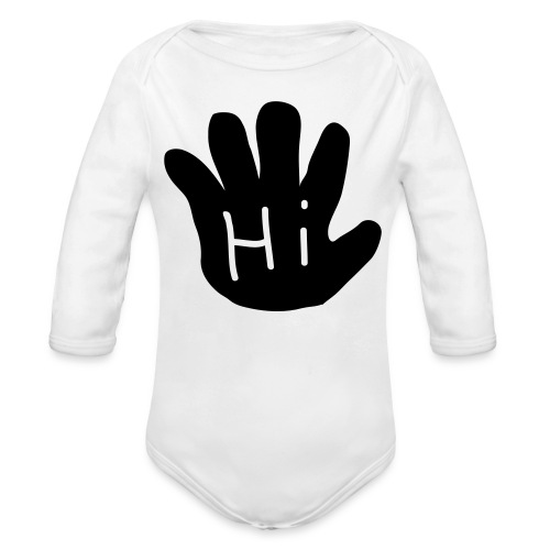 Hi/Bye long sleeve onsie - Organic Long Sleeve Baby Bodysuit