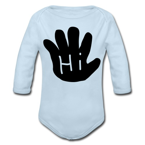 Hi/Bye long sleeve onsie - Organic Long Sleeve Baby Bodysuit