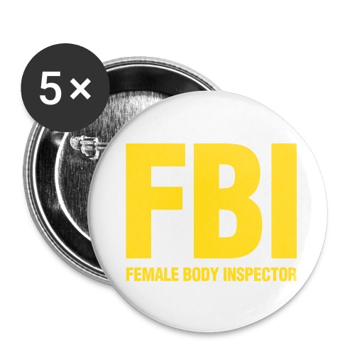 FBI Button - Buttons large 2.2'' (5-pack)