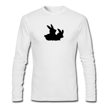 White two bunnies making love (2c) Long Sleeve Shirts