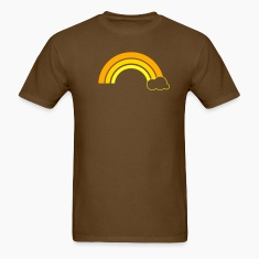 Brown Retro rainbow T-Shirts