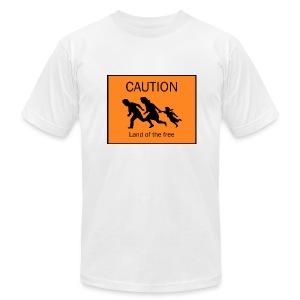Caution - Men's Fine Jersey T-Shirt