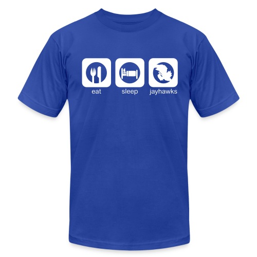 Eat, Sleep, Jayhawks Men's AA Tee - Men's Fine Jersey T-Shirt