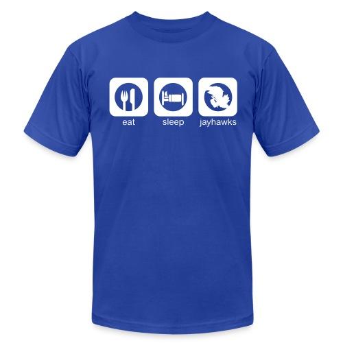 Eat, Sleep, Jayhawks Men's AA Tee - Men's  Jersey T-Shirt