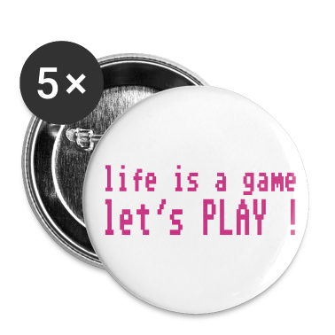 White life is a game let's play ! Buttons