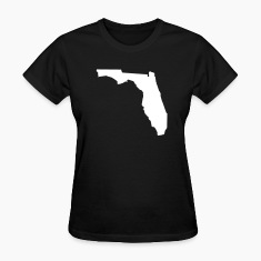 Black Florida Women's T-Shirts