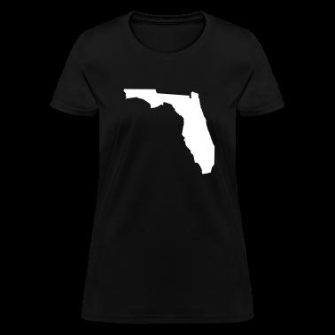 Black Florida Women's T-Shirts