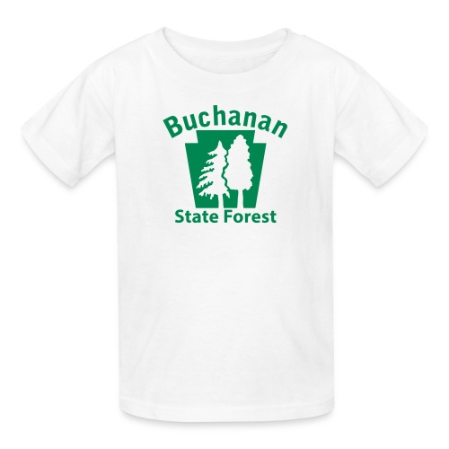 Buchanan State Forest Keystone w/Trees - Kids' T-Shirt