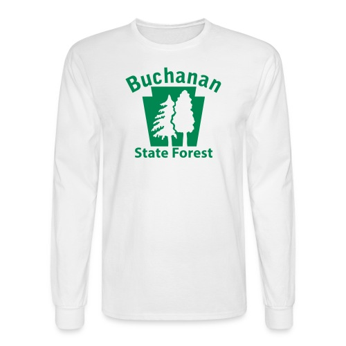 Buchanan State Forest Keystone w/Trees - Men's Long Sleeve T-Shirt