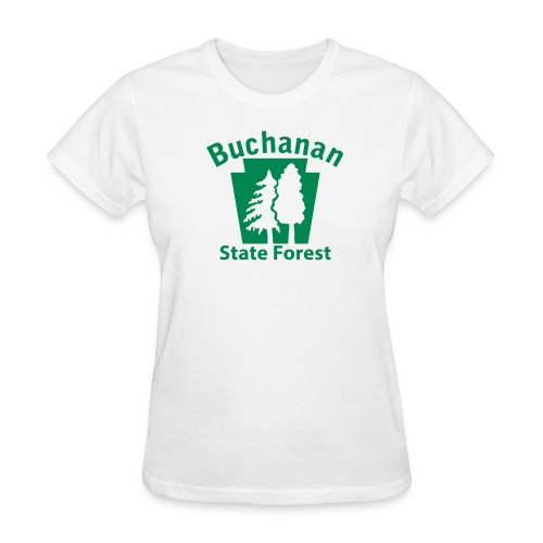 Buchanan State Forest Keystone w/Trees - Women's T-Shirt