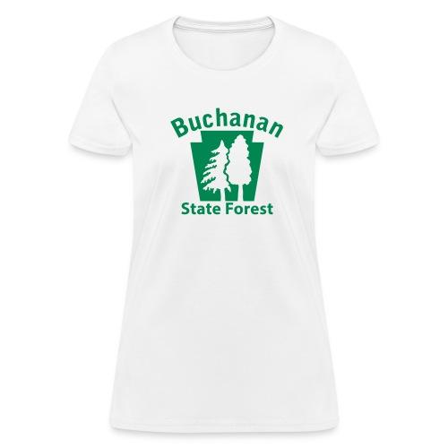 Buchanan State Forest Keystone w/Trees - Women's T-Shirt