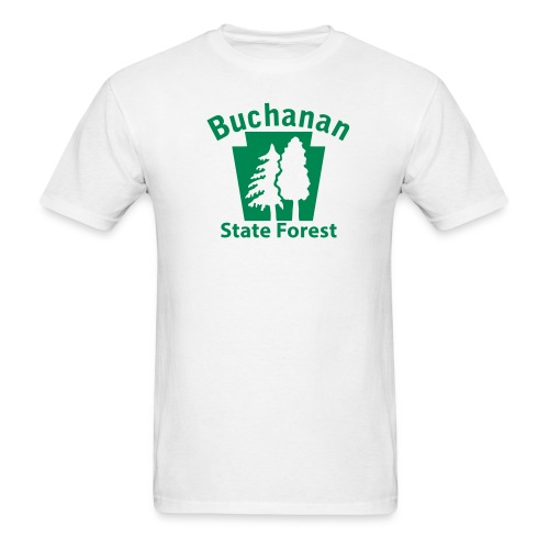 Buchanan State Forest Keystone w/Trees - Men's T-Shirt