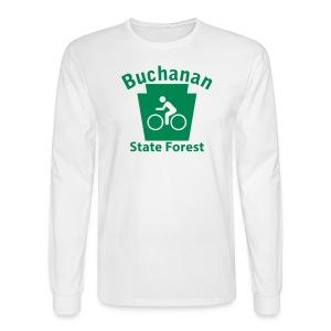 Buchanan State Forest Keystone Biker - Men's Long Sleeve T-Shirt