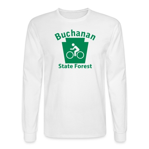 Buchanan State Forest Keystone Biker - Men's Long Sleeve T-Shirt