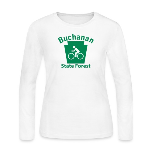 Buchanan State Forest Keystone Biker - Women's Long Sleeve Jersey T-Shirt