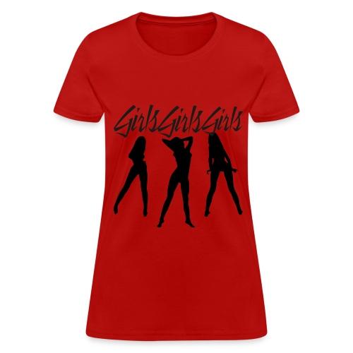 Girls Girls Girls Motley Crue Nikki Sixx Ladies - Women's T-Shirt
