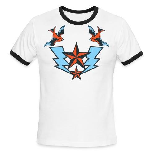 Vintage Tattoo Birds T-shirt - Men's Ringer T-Shirt