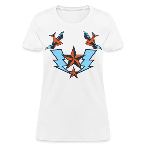 Vintage Tattoo Birds T-shirt - Women's T-Shirt