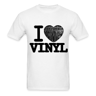 T-Shirts ~ Men's T-Shirt ~ I heart Vinyl